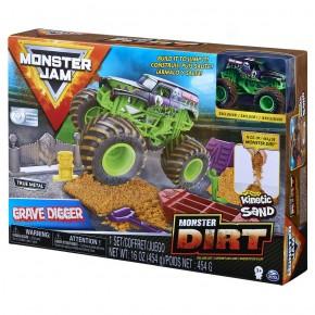 Monster Jam Set camioneta cu nisip si accesorii Grave Digger