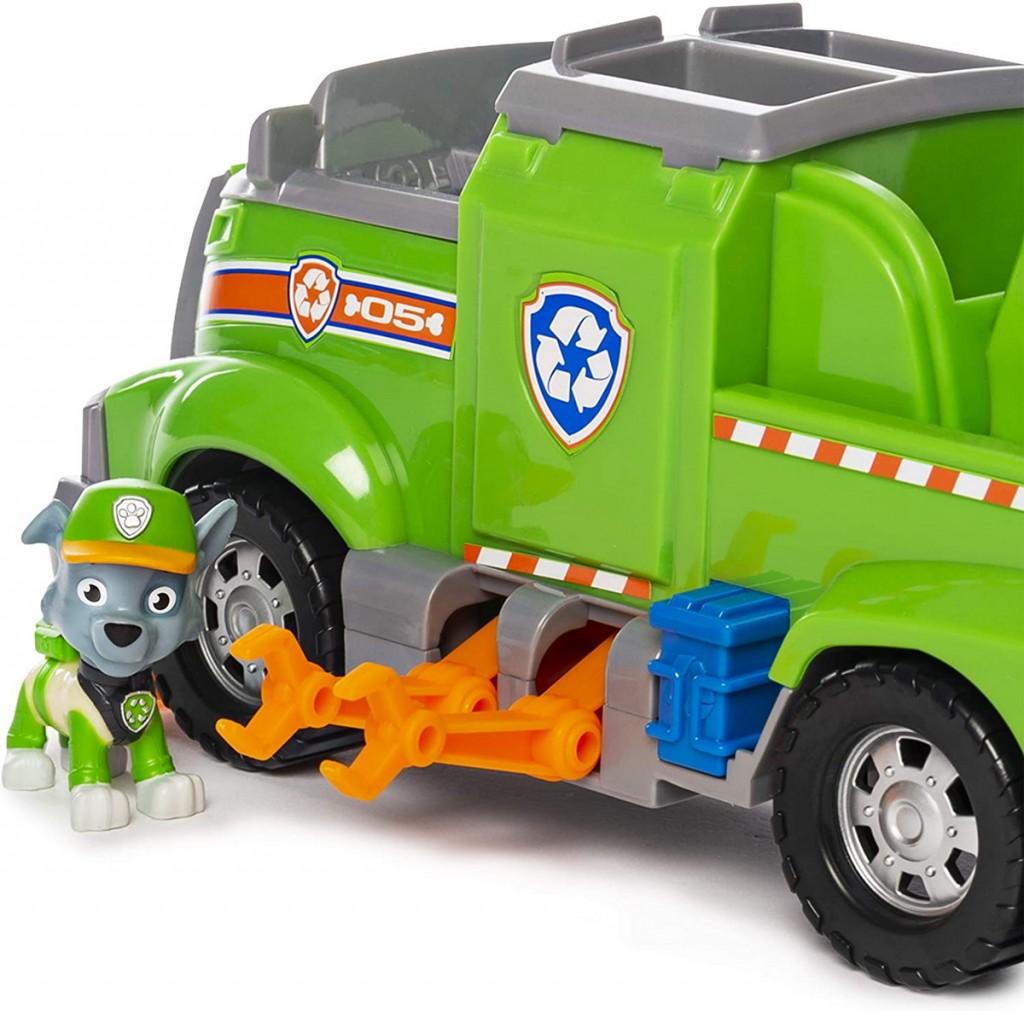 Patrula catelusilor Rocky masina de reciclare si echipa sa