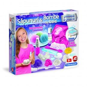 Set creeaza sapunuri si bombe spumante de baie