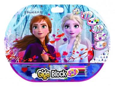 Set pentru desen 5in1 Gigablock Frozen 2