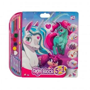 Set pentru desen 5in1 Gigablock Unicorn
