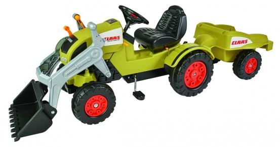 Big Tractor Claas Celtis TR cu pedale cupa si remorca