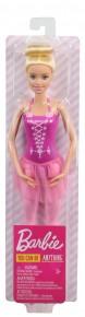 Papusa Barbie balerina blonda cu costum roz