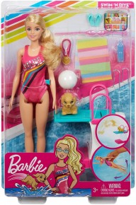 Barbie papusa inotatoare
