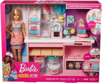 Barbie set atelier cofetarie si papusa