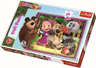 Puzzle Trefl 24 Maxi Masha si Ursul