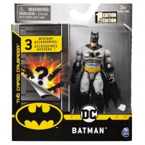 Figurina Batman 10 cm cu costum gri si accesorii