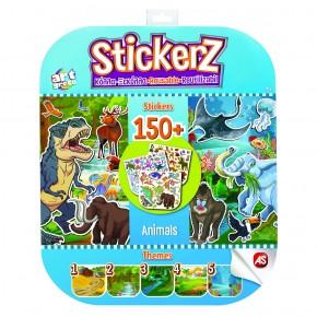 Set 150 autocolante Stickerz reutilizabile cu animale