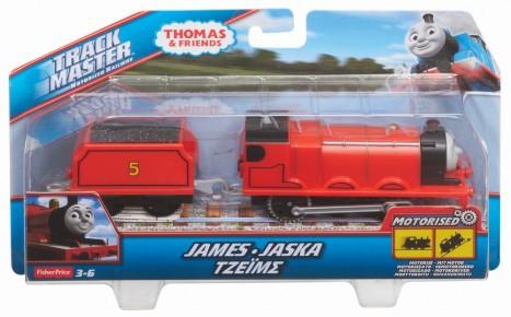Thomas Trackmaster locomotiva James cu vagon