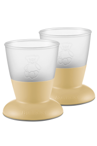 Set pahare pentru bebelusi (2 buc) - Powder Yellow