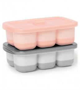 Recipiente pentru congelare - Gri / Roz