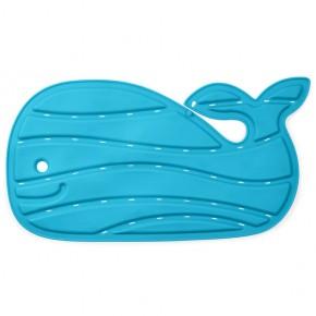 Covoras albastru de baie antiderapant in forma de balena
