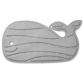 Covoras gri de baie antiderapant in forma de balena