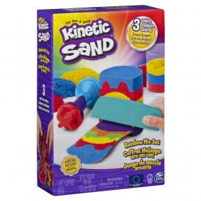 Kinetic Sand Set unelte de curcubeu cu accesorii