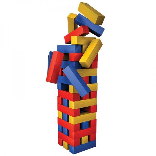 Turnul buclucas cu piese colorate in cutie de metal