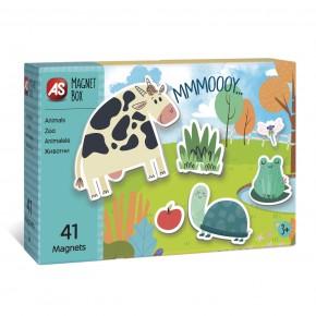 Cutie magnetica animale cu 41 de piese