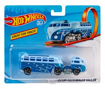 Hot Wheels Camion Wolkswagen Hauler albastru