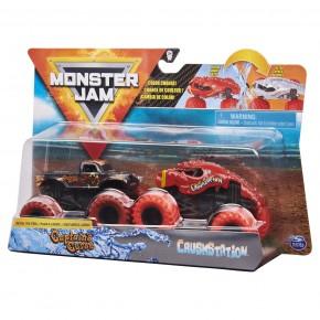 Monster Jam Set 2 masinute blestemul capitanului si Crush Station color change 1:64