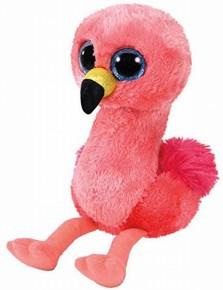Plus 15 cm TY Boss Gilda Flamingo roz