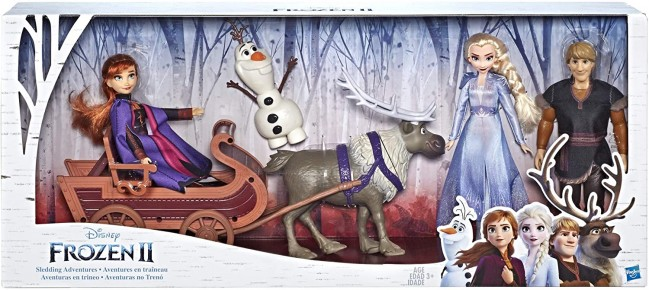Set Frozen 2 cu sanie si papusi