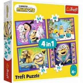 Puzzle Trefl 4in1 In lumea Minionilor