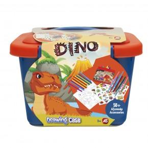 Valiza Dinos cu accesorii pentru desen
