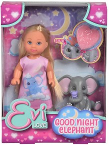 Papusa Evi noapte buna puiule de elefant
