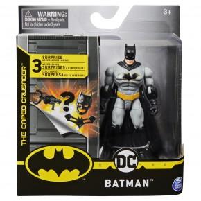 Figurina Batman costumatie gri 10 cm cu 3 accesorii