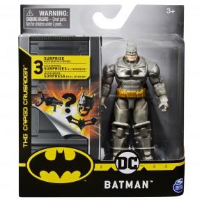 Figurina Batman in costum cu armura 10 cm cu 3 accesorii