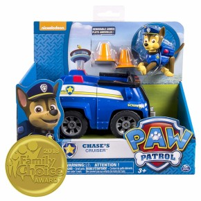 Figurina cu masina - Paw Patrol Chase Cruiser