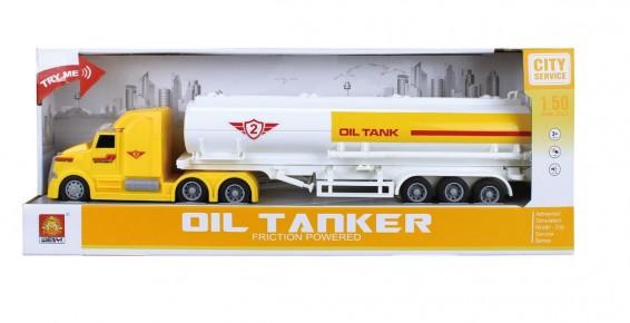 Camion cisterna transport combustibil frictiune lumini si sunete 1:50