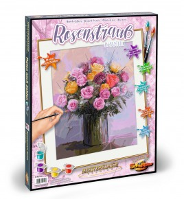 Kit pictura pe numere Schipper Buchet cu trandafiri