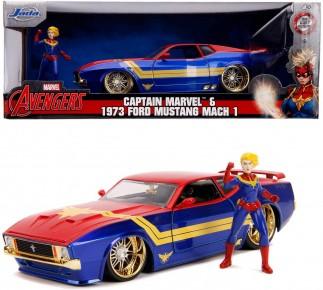 Masinuta metalica Captain Marvel 1973 Ford Mustang Mach 1:24
