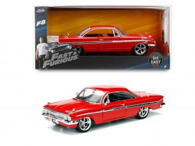 Masinuta metalica Fast and Furious 1961 Chevy Imapala 1:24