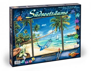 Kit Pictura pe numere Schipper Pe plaja, 3 tablouri