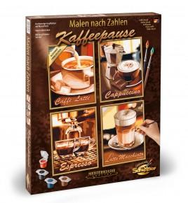 Kit de pictura pe numere Schipper Quatro Pauza de cafea