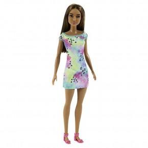 Papusa Barbie satena cu tinuta inflorata
