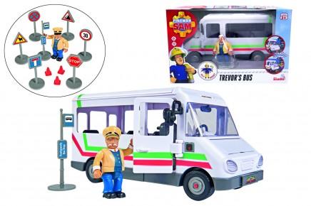 Pompierul Sam Autobuzul lui Trevor cu figurina