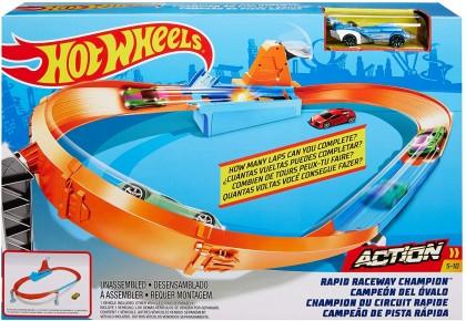 Hot Wheels circuit pentru drift cu lansator si masinuta exclusiva