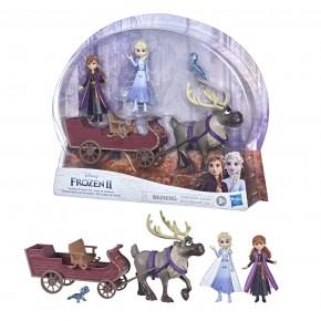 Disney Frozen Set papusi Anna si Elsa cu sanie