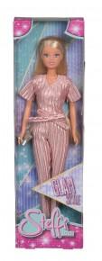 Papusa Steffi Glam Style cu hainute roz