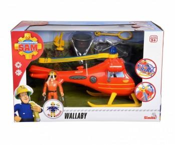 Elicopterul Pompierul Sam Wallaby cu figurina si accesorii
