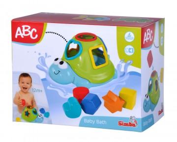 Jucarie bebe broscuta plutitoare cu forme si cuburi