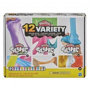 Play Doh Set 12 slime-uri cu diferite culori si texturi