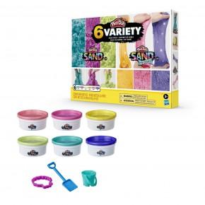 Play Doh Set 6 slime-uri cu nisip colorat si cu diferite texturi
