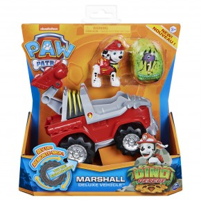 Patrula Catelusilor Set vehicul cu catelus Marshall si figurina Dino surpriza