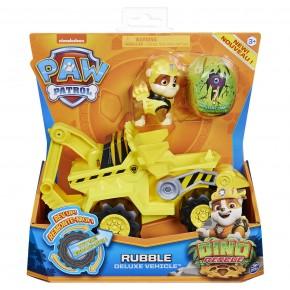 Patrula Catelusilor Set vehicul cu catelus Rubble si figurina Dino surpriza