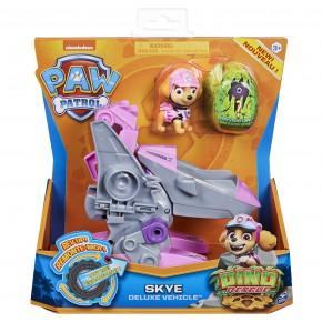 Patrula Catelusilor Set vehicul cu catelusa Skye si figurina Dino surpriza