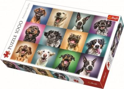 Puzzle Trefl - Portret catelusi simpatici - 1000 piese