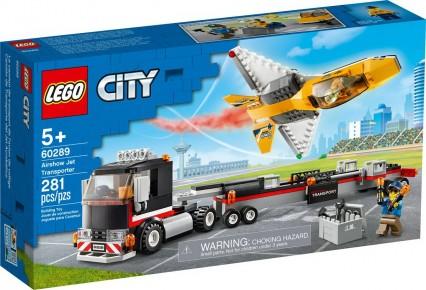 Lego City Transportor de avion cu reactie pentru spectacol aviatic 60289